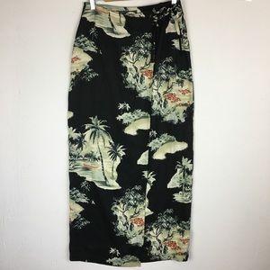 Tommy Bahama Silk Wrap Maxi Skirt Size 6